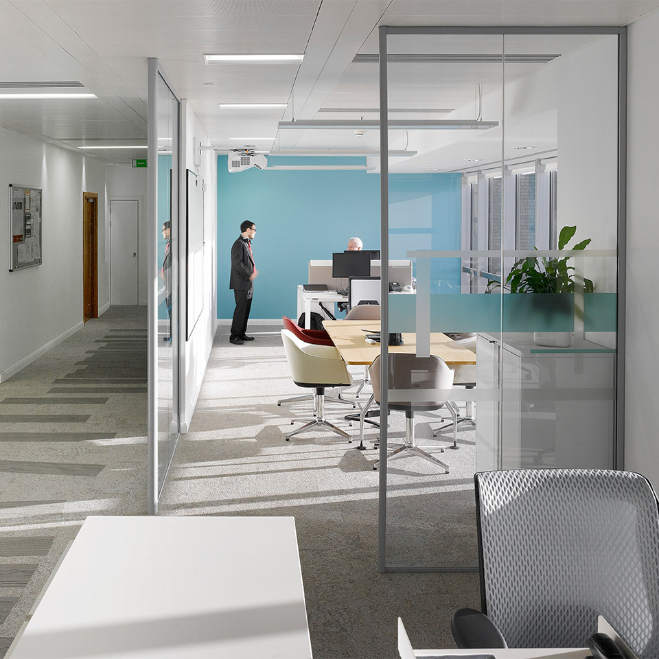 Network rail head office glasgow office workplace for Archispace designs architects interior consultants